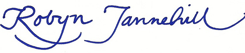 Mayor Robyn Tannehill Signature